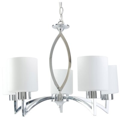 Markam 5-Light Shaded Chandelier