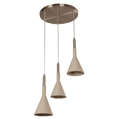 Ciment 3-Light Cascade Pendant