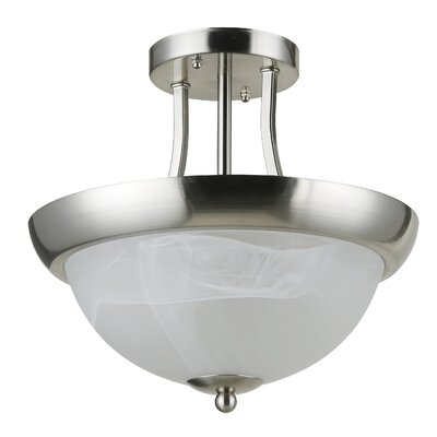 Holt 2-Light Semi Flush Mount