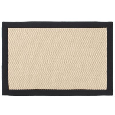 Jute Herring Bone Brown Indoor/Outdoor Area Rug