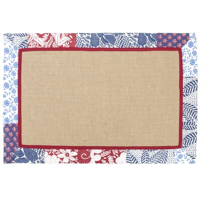 Jute Boucle Maui Quilted Border Indoor/Outdoor Area Rug