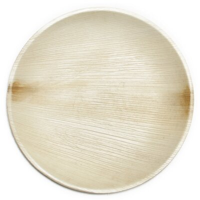 "9"" Compostable Sustainable and All Natural Palm Leaf Dinner Plate"