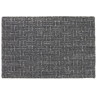 Sisal Jacquard Double Key Blended Black Indoor/Outdoor Area Rug