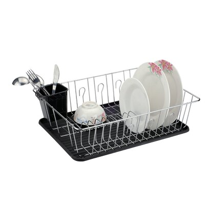 Dish Rack with Silicone Coated Feet Protectors
