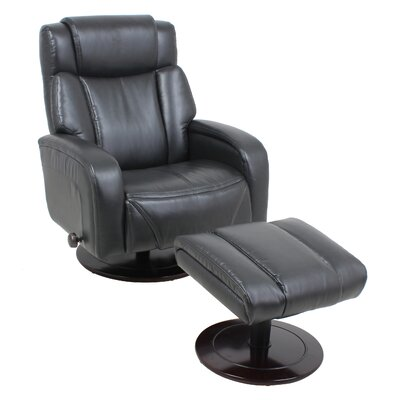 Manual Swivel Recliner With Ottoman