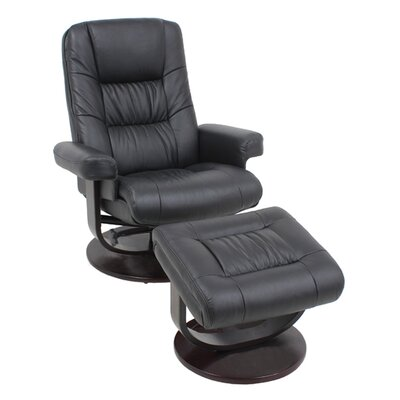 Leather Recliner and Ottoman
