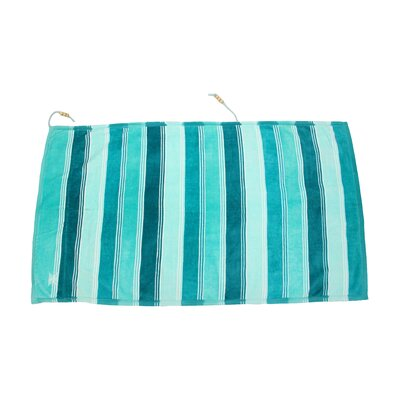 Embrace Ombre Crescent Beach Towel Color: Blue
