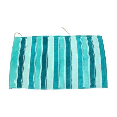 Embrace Ombre Crescent Beach Towel Color: Blue
