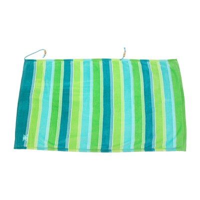 Embrace Ombre Crescent Beach Towel Color: Green