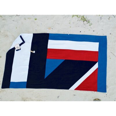 Embrace Geo Plush Beach Towel