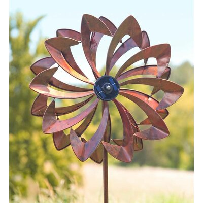Solar Led Flower Spinner Color: Copper