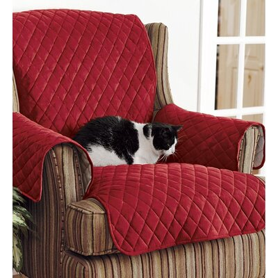 Polyester Armchair Slipcover Color: Red