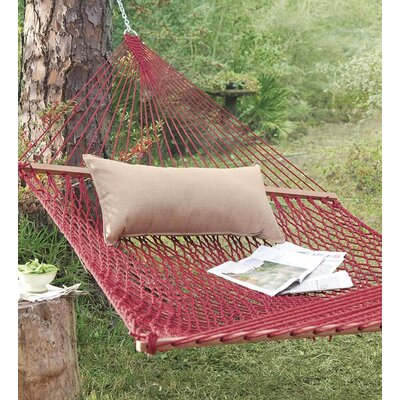 Feel Cotton Hammock with Stand Finish: Red