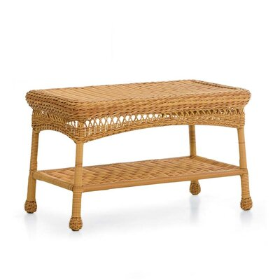 Wicker Coffee Table Finish: Tan