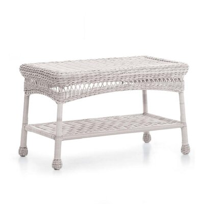 Wicker Coffee Table Finish: White