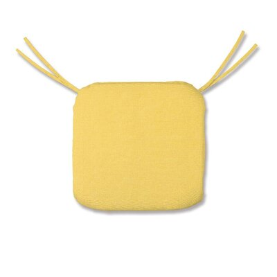 Outdoor Chair Cushion Fabric: Solid Butter
