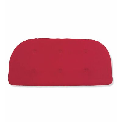 Outdoor Bench Cushion Fabric: Solid Red
