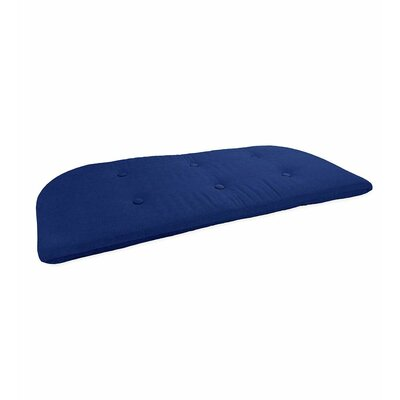 Outdoor Bench Cushion Fabric: Solid cobalt blue
