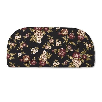 Classic Outdoor Bench Cushion Color: Black Floral