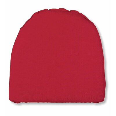 Outdoor Chair Cushion Fabric: Solid Red