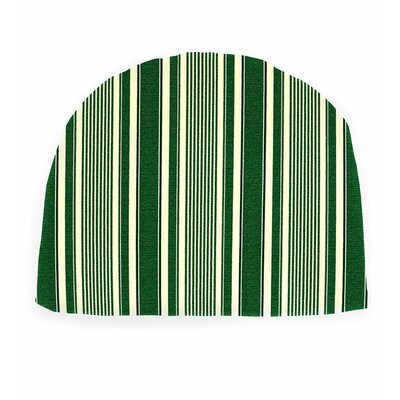 Outdoor Chair Cushion Fabric: Green Ticking Stripe