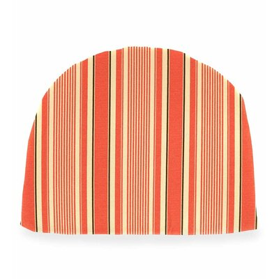 Outdoor Chair Cushion Fabric: Coral Ticking Stripe
