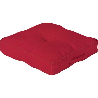 Outdoor Floor Cushion Color: Red