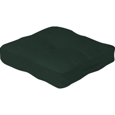 Outdoor Floor Cushion Color: Forest Green