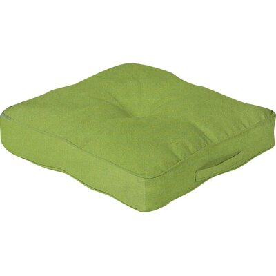Outdoor Floor Cushion Color: Leaf Green