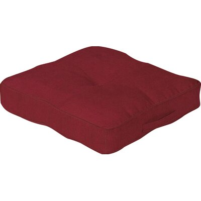Outdoor Floor Cushion Color: Red Brick