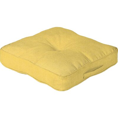 Outdoor Floor Cushion Color: Yellow