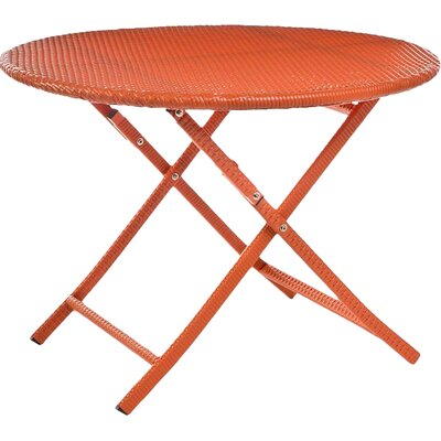 Bistro Table Color: Orange