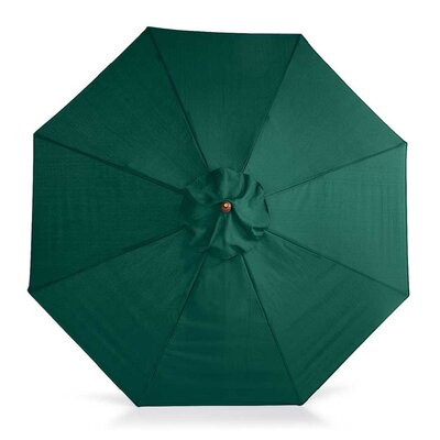 9 Market Umbrella Fabric: Solid Forest Green