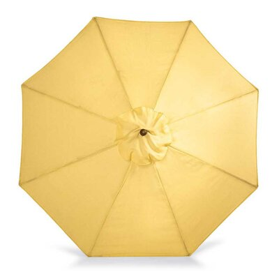 9 Market Umbrella Fabric: Solid Butter(Yellow)