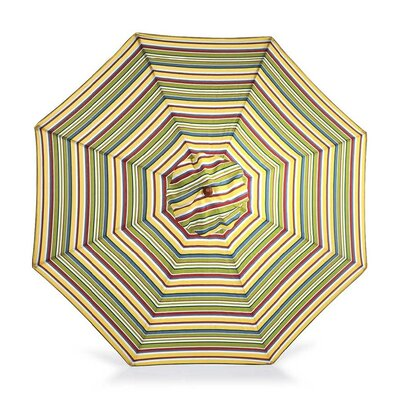 9 Market Umbrella Fabric: Carnival Stripe
