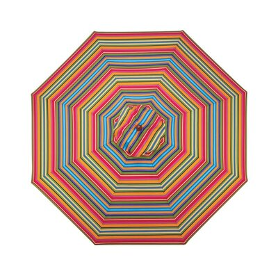 9 Market Umbrella Fabric: Fiesta Stripe