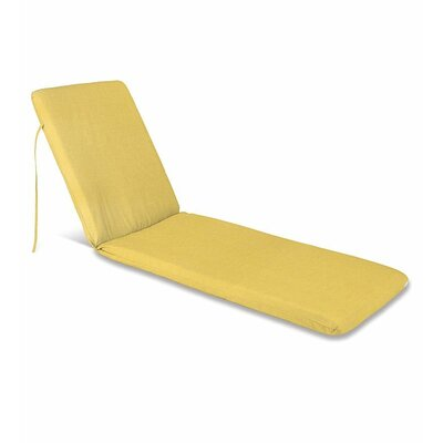 Outdoor Chaise Cushion Fabric: Solid Butter
