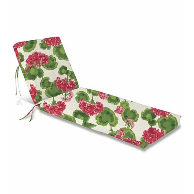 Outdoor Chaise Cushion Fabric: Geranium