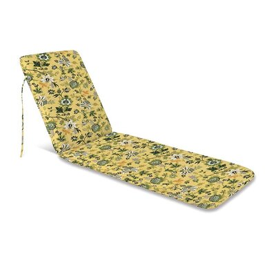 Outdoor Chaise Cushion Fabric: Lakeside Jacobean
