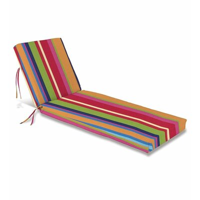 Outdoor Chaise Cushion Fabric: Fiesta Stripe