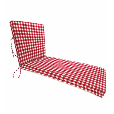 Outdoor Chaise Cushion Fabric: Red Gingham
