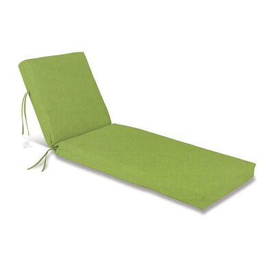 Outdoor Chaise Cushion Fabric: Leaf Green