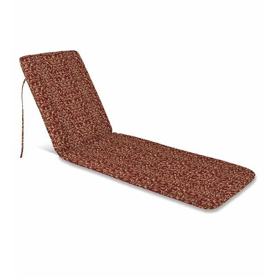 Outdoor Chaise Cushion Fabric: Brick Scroll