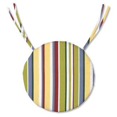 Outdoor Dining Chair Cushion Fabric: Carnival Stripe