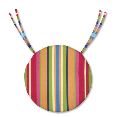 Outdoor Dining Chair Cushion Fabric: Fiesta Stripe