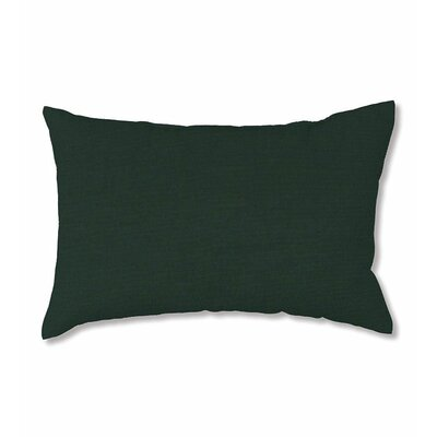 Classic Outdoor Lumbar Pillow Fabric: Sollid Forest Green
