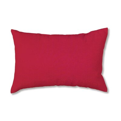 Classic Outdoor Lumbar Pillow Fabric: Solid Red
