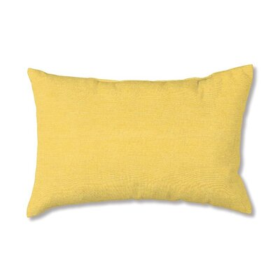 Classic Outdoor Lumbar Pillow Fabric: Solid Butter