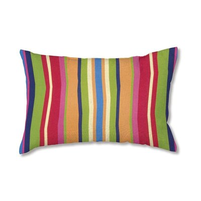 Polyester Classic Lumbar Pillow Color: Fiesta Stripe