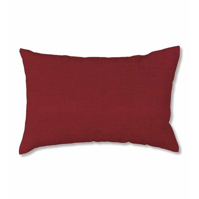 Classic Outdoor Lumbar Pillow Fabric: Brick